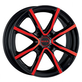 Cerchi in lega MAK MILANO 4 BLACK AND RED da 16 pollici