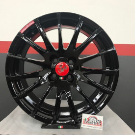 FONDMETAL 7800 per 500 ABARTH da 17 nero lucido limited edition