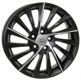 CERCHI IN LEGA WSP W256 GIULIETTA DULL BLACK F POLISHED PER ALFA SPIDER