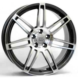 CERCHI IN LEGA WSP W557 S8 COSMA TWO ANTHRACITE POLISHED PER AUDI A4