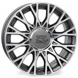 CERCHI IN LEGA WSP W162 GRACE ANTHRACITE POLISHED DA 15 POLLICI ET 35