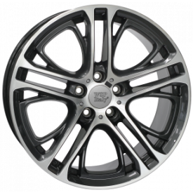 CERCHI IN LEGA WSP W677 XENIA DIAMOND BLACK POLISHED DA 19 POLLICI ET 39